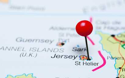 Jersey on map