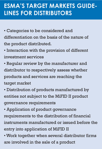 ESMA guidelines distributors