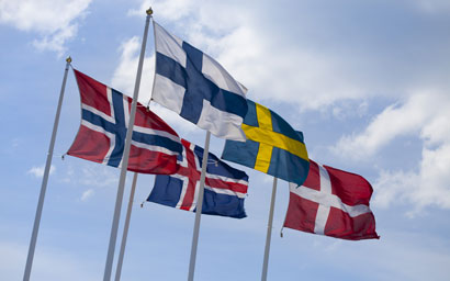Nordics flags