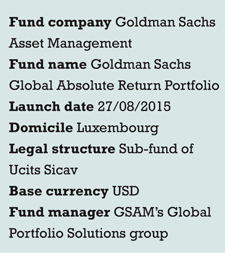 Goldman Sachs fund launch