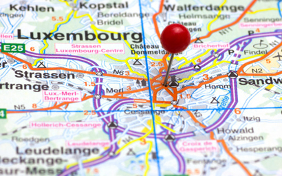 Luxembourg on map