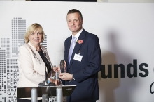 Specialist Administrator Commended - JTC. Accepted by Simon Gordon, presented by Margaret Delman.