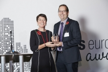Innovator - Northern Trust. Accepted by Anthony Stevens, presented by Catherine Doherty.