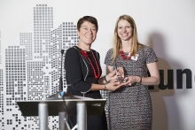 Front Office Provider - RSRCHXchange. Accepted by Vitoria Sanders, presented by Catherine Doherty.