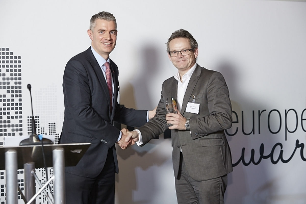 ETF Provider Commended - ETF Securities. Accepted by Paul Griffin, presented by Tom Caddick.