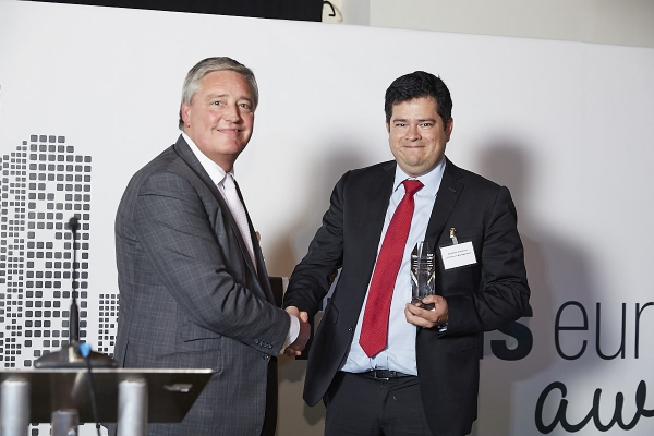 Fund Launch - UBS Asset Management. Accepted by Rodrigo Dupleich, presented by Hugh Byrne.